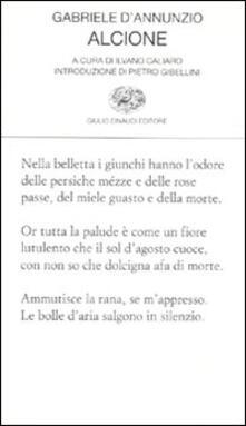 Alcione - Gabriele D'Annunzio - copertina