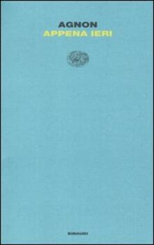Appena ieri - Shemuel Y. Agnon - copertina