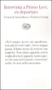 Libro Intervista a Primo Levi, ex deportato