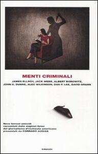 Libro Menti criminali