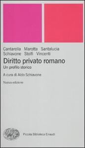 Diritto privato romano. Un profilo storico - copertina