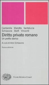Libro Diritto privato romano. Un profilo storico