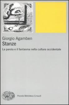 Stanze. La parola e il fantasma nella cultura occidentale - Giorgio Agamben - copertina