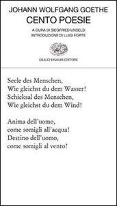 Libro Cento poesie J. Wolfgang Goethe