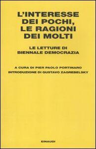 Libro L' interesse dei pochi, le ragioni dei molti. Le letture di Biennale Democrazia