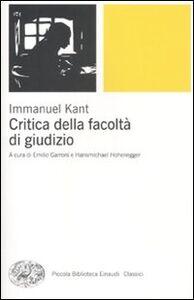 Libro Critica della facoltà di giudizio Immanuel Kant