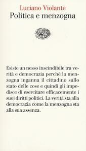 Politica e menzogna - Luciano Violante - copertina