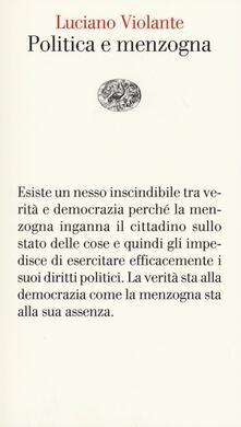 Letterarioprimopiano.it Politica e menzogna Image