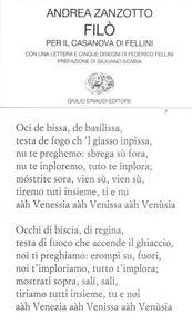 Foto Cover di Filò. Per il Casanova di Fellini, Libro di Andrea Zanzotto, edito da Einaudi