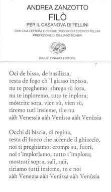 Rallydeicolliscaligeri.it Filò. Per il Casanova di Fellini Image