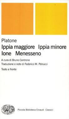 Ippia maggiore-Ippia minore-Ione-Menesseno. Testo greco a fronte.pdf