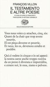 Libro Il testamento e altre poesie François Villon