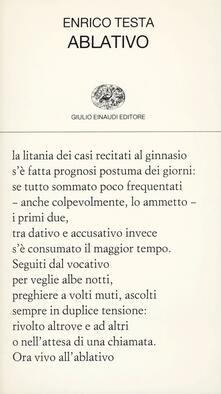 Ablativo - Enrico Testa - copertina