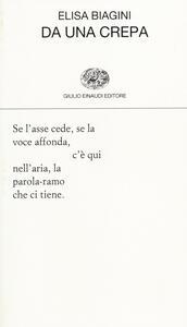Da una crepa - Elisa Biagini - copertina