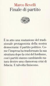 Libro Finale di partito Marco Revelli