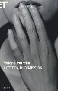Lettera di dimissioni - Valeria Parrella - copertina