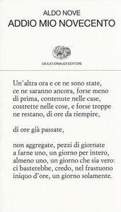 Libro Addio mio Novecento Aldo Nove