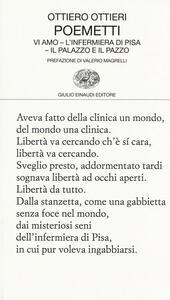 Poemetti: Vi amo-L'infermiera di Pisa-Il palazzo e il pazzo - Ottiero Ottieri - copertina
