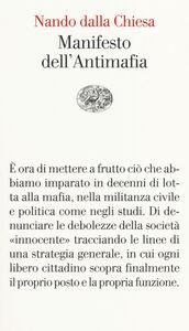 Libro Manifesto dell'antimafia Nando Dalla Chiesa