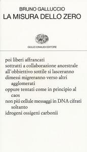 La misura dello zero - Bruno Galluccio - copertina