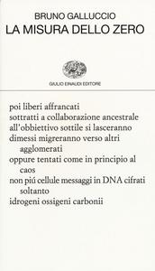 Libro La misura dello zero Bruno Galluccio