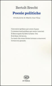 Poesie politiche - Bertolt Brecht - copertina