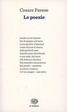 Le poesie - Cesare Pavese - copertina