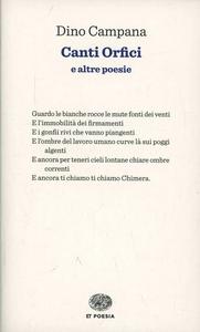 Libro Canti orfici Dino Campana