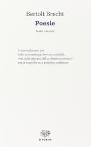 Poesie - Bertolt Brecht - copertina