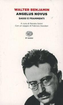 Angelus Novus - Walter Benjamin - copertina