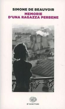 Memorie d'una ragazza perbene - Simone de Beauvoir - copertina
