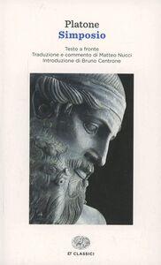 Libro Simposio. Testo greco a fronte Platone