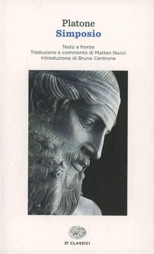 Simposio. Testo greco a fronte - Platone - copertina