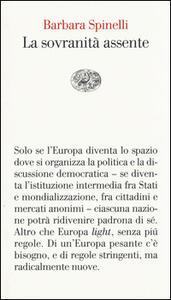 La sovranità assente - Barbara Spinelli - copertina