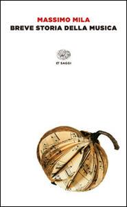 Breve storia della musica - Massimo Mila - copertina