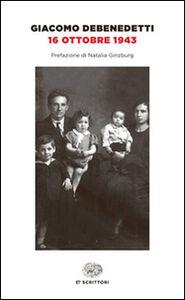 Libro 16 ottobre 1943 Giacomo Debenedetti