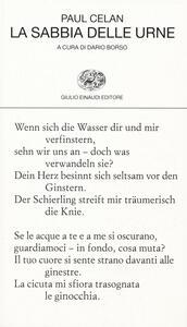 La sabbia delle urne. Testo tedesco a fronte - Paul Celan - copertina