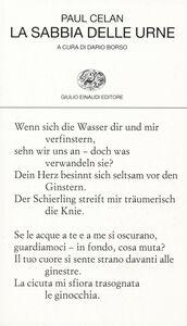 Libro La sabbia delle urne. Testo tedesco a fronte Paul Celan