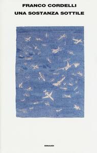 Una sostanza sottile - Franco Cordelli - copertina