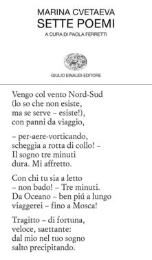 Sette poemi - Marina Cvetaeva - copertina