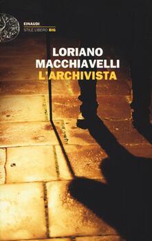L' archivista - Loriano Macchiavelli - copertina