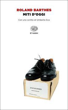 Miti d'oggi - Roland Barthes - copertina