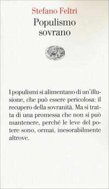 Populismo sovrano - Stefano Feltri - copertina