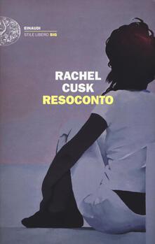 Resoconto - Rachel Cusk - copertina