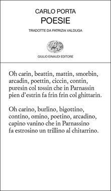 Poesie. Testo milanese a fronte - Carlo Porta - copertina