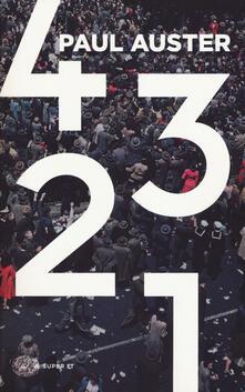 4 3 2 1 - Paul Auster - copertina
