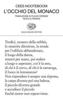 Fondazionesergioperlamusica.it L' occhio del monaco. Testo originale a fronte Image