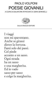 Poesie giovanili - Paolo Volponi - copertina