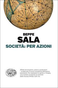 Società: per azioni - Beppe Sala - copertina