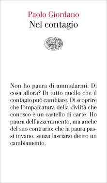 Nel contagio - Paolo Giordano - copertina